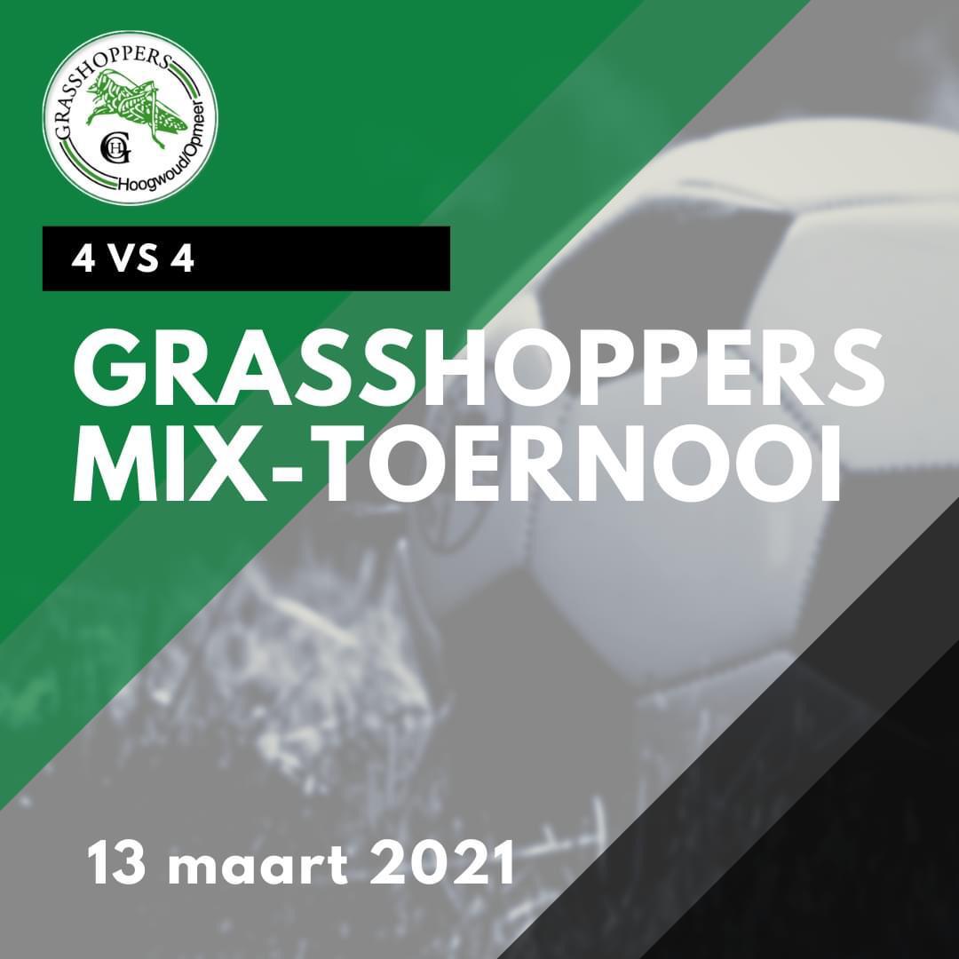 Grasshoppers mix-toernooi op 13 maart